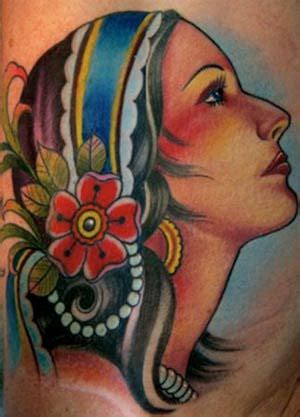 gypsy head tattoo lachelle by the seashore the