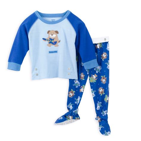 two pajamas for toddlers s infant boy s 2 snapwaist footed pajamas