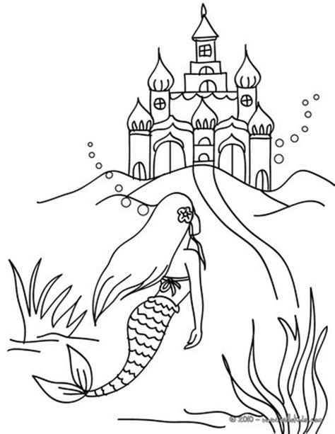 little mermaid castle coloring page coloring sheet mermaid special mermaid printable coloring
