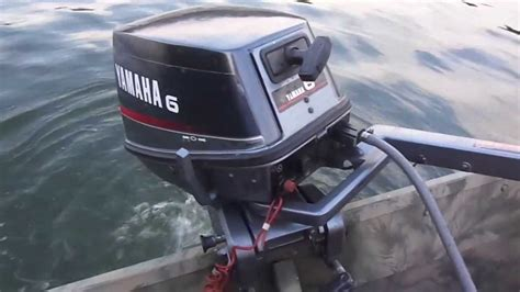 yamaha jon boat motors yamaha 6 hp on 1436 aluminum jon boat youtube