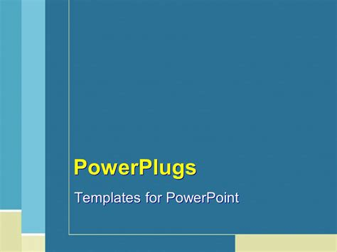 Powerpoint Template Plain Blue Tan And White Line Powerplugs Templates For Powerpoint