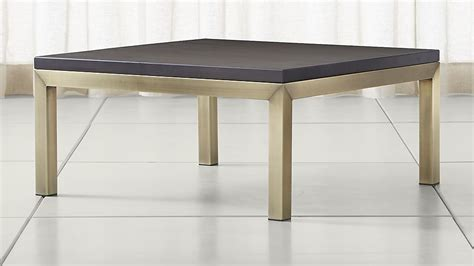 Parsons Square Coffee Table Parsons Pine Top Brass Base 36x36 Square Coffee Table Crate And Barrel