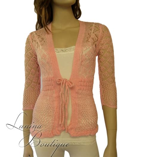 crochet pattern lacy jumper ladies crochet lace cardigan long sleeved knit top jacket