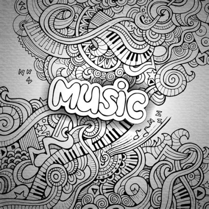 pattern definition music music sketch floral pattern vector background free