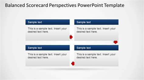 Balanced Scorecard Perspectives Powerpoint Template Slidemodel Balanced Scorecard Template Powerpoint