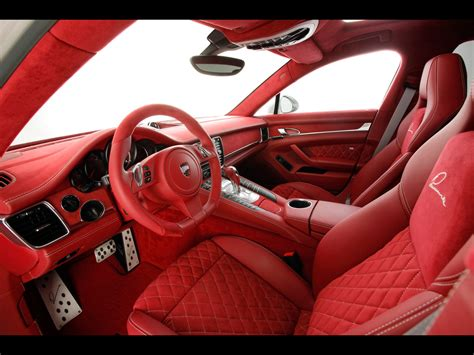 Porsche Panamera White Red Interior Image 353