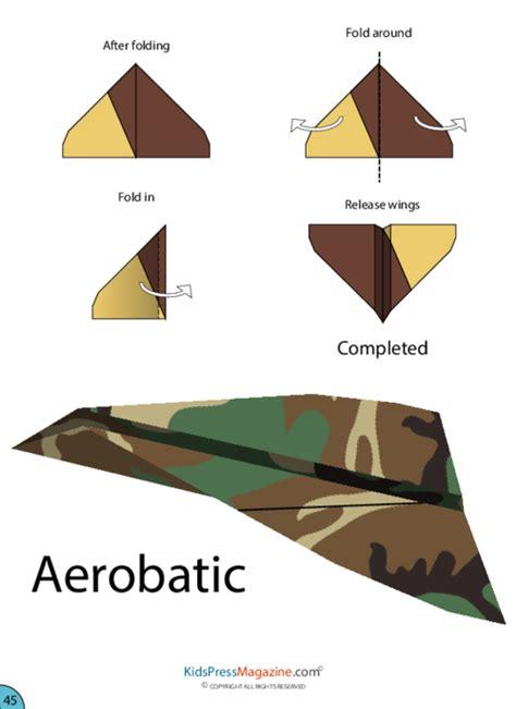 Origami Stunt Plane - paper airplane aerobatic