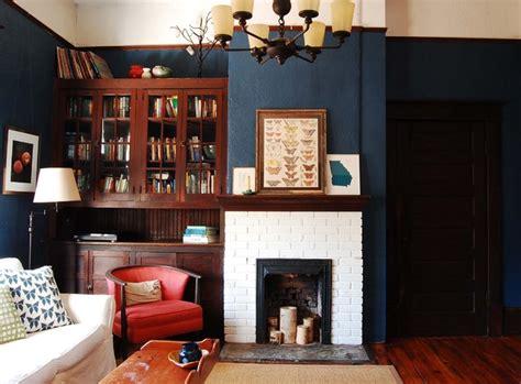 interiors painted  benjamin moore deep royal blue