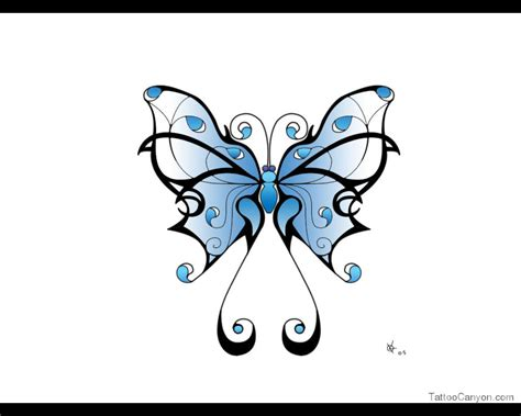 butterfly tribal tattoo images popular tribal butterfly design tattooshunt