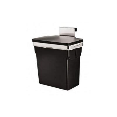 poubelle de porte de cuisine poubelle de porte 10 l simplehuman castorama