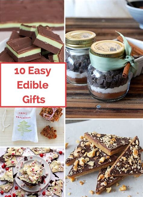 easy and delicious edible holiday gifts to make for