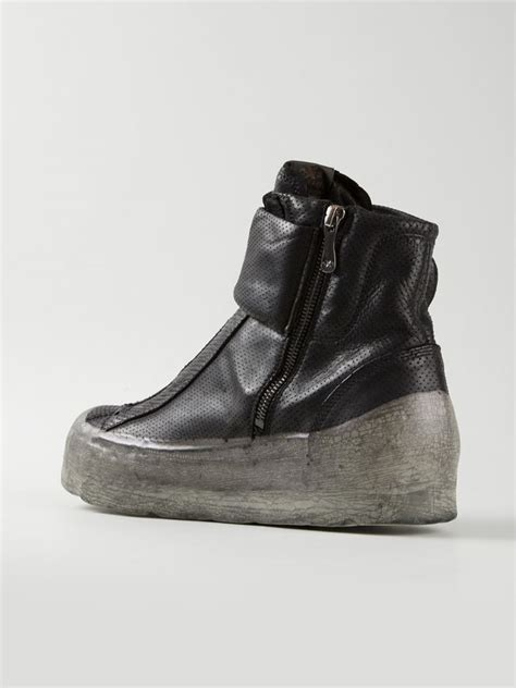 oxs sneakers lyst oxs rubber soul polacco leather high top sneakers