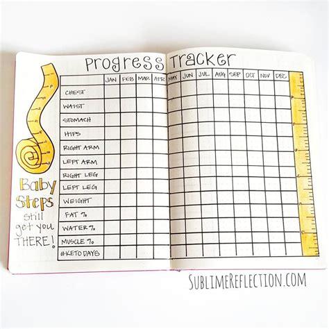 weight loss journal bullet journal measurements weight tracker bullet