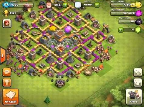 best defense town hall level 8 2016 best town hall level 8 defense clash of clans youtube