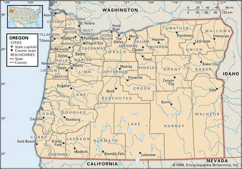 map of oregon by county oregon map free large images