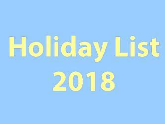 central government holiday list  public