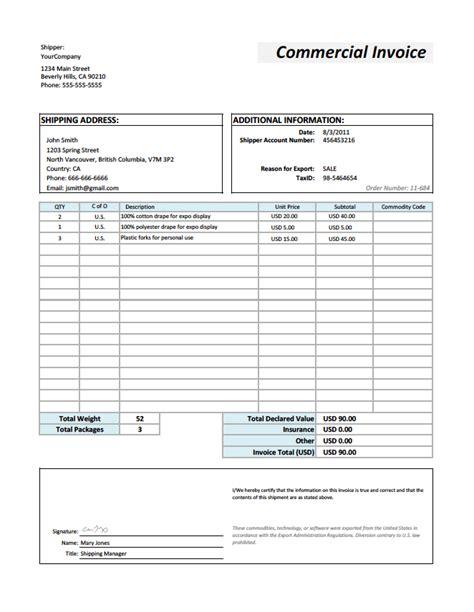 proforma invoice for shipping customs proforma invoice proforma