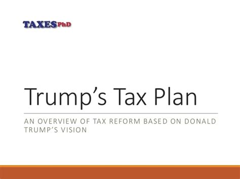 trump tax reform donald trump s tax reform plan