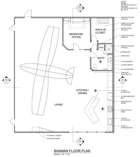 hangar home floor plans banman live work airplane hangar james mcgarry archinect