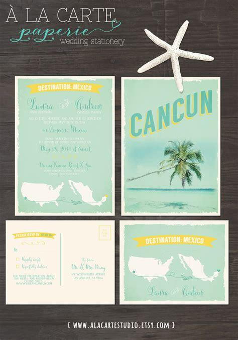 wedding invitation wording for destination wedding destination wedding invitation cancun mexico by alacartepaperie