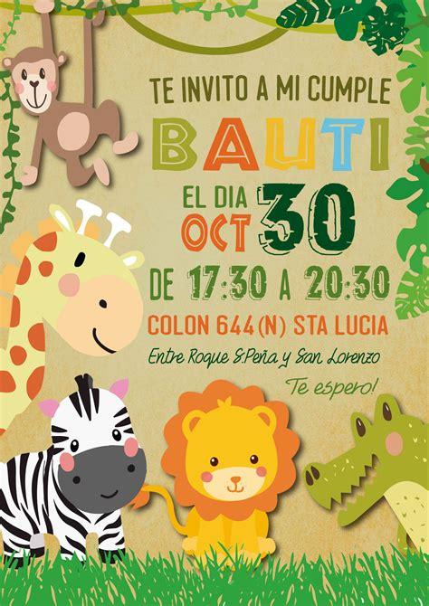 Jungle Theme Birthday Invitation Card