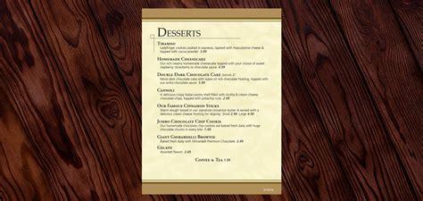 design and dine menu part 2