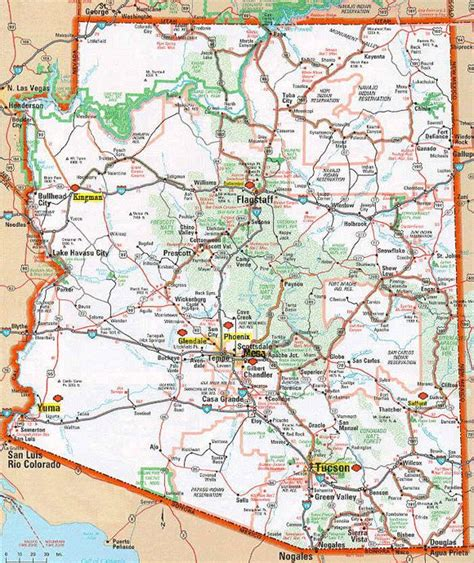 map of arizona and surrounding areas arizona map search maps small