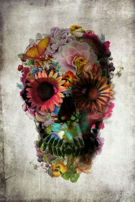 ali gulec tattoo a sugar skull made of flowers nice pinterest