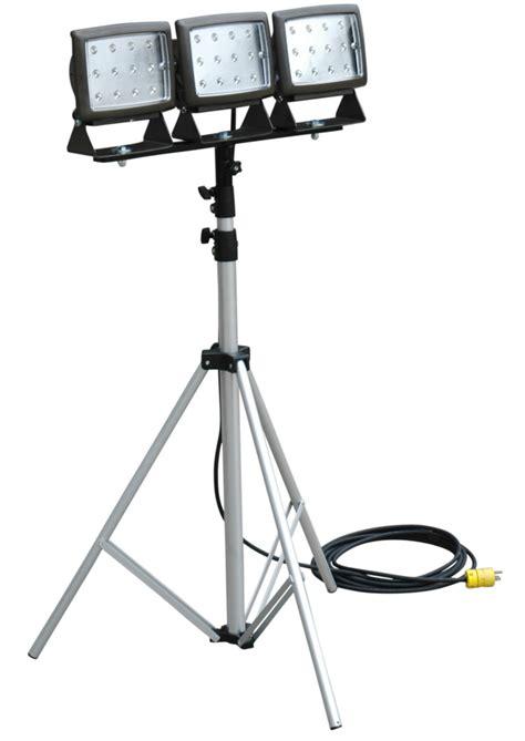 led flood light tripod led flood light is mounted on telescoping tripod retrofit