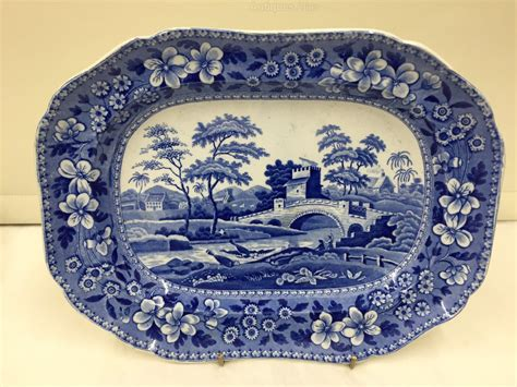 blue pattern pottery antiques atlas antique spode pottery tower pattern dish