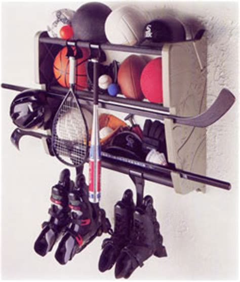 Sports Equipment Rack by Wall Mount Sports Gear Rack In Sports Equipment Organizers