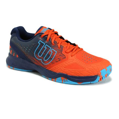 wilson tennis shoes wilson kaos comp mens tennis shoe tomato navy wrs320570