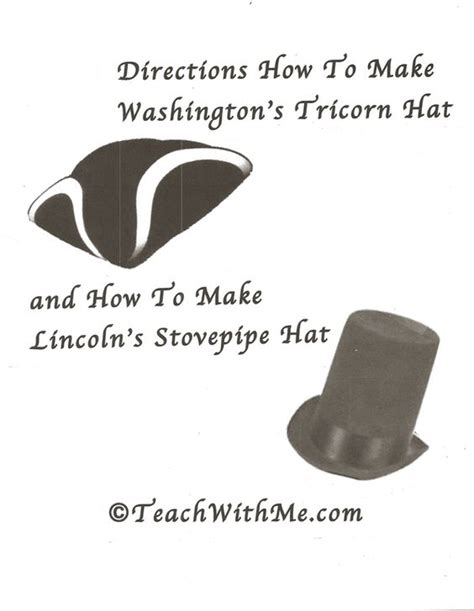 How To Make A Paper Tricorn Hat - activities washington and stove on