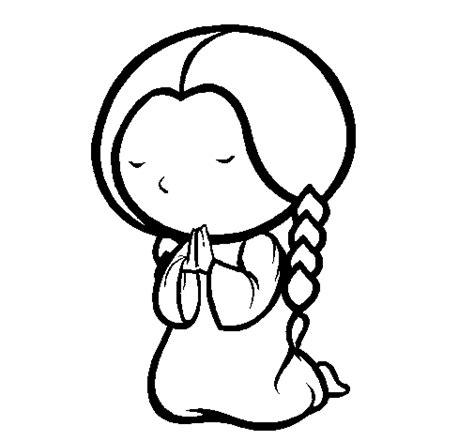 imagenes de mujeres orando para colorear dibujo de ni 241 a rezando para colorear dibujos net