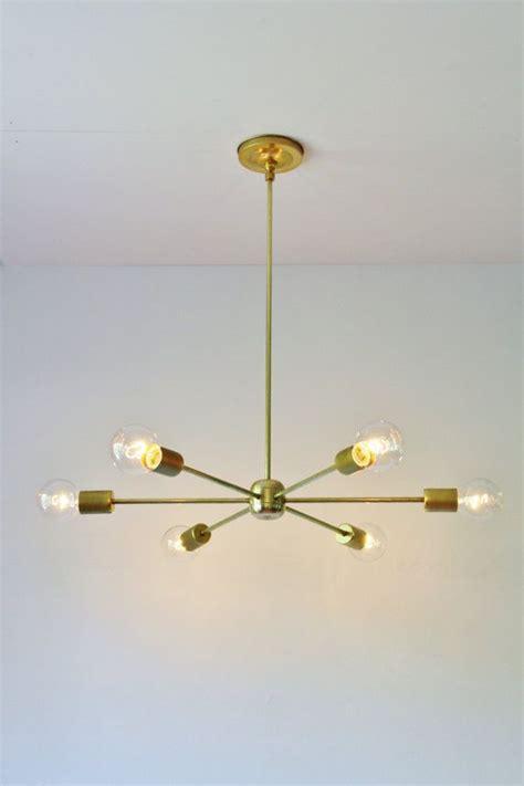 Moderne Kronleuchter Halogen by Modern Brass Chandelier Mid Century Starburst Sputnik