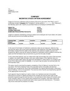 Grant Agreement Letter Incentive Stock Option Agreement Template Hashdoc