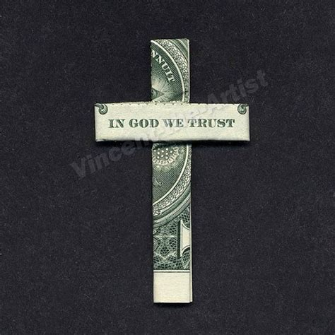 How To Make A Origami Cross - dollar bill origami cross quot in god we trust quot origami