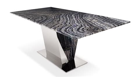 black and white marble table malbec black and grey marble dining table with polished stainless steel base zuri furniture