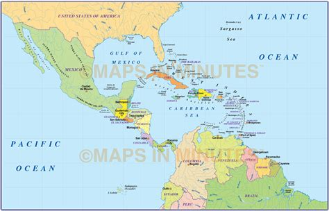 map of central central america political map roundtripticket me