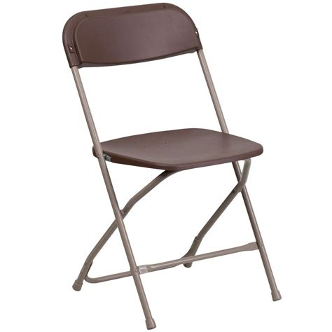 foldable chairs brown folding chair