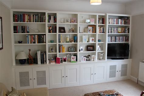 fitted wardrobes and bookcases in london shelving and
