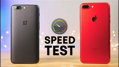 oneplus   iphone   speed test youtube