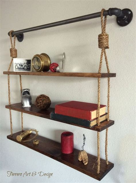 hanging bathroom shelves 1000 ideas about rope shelves on unique