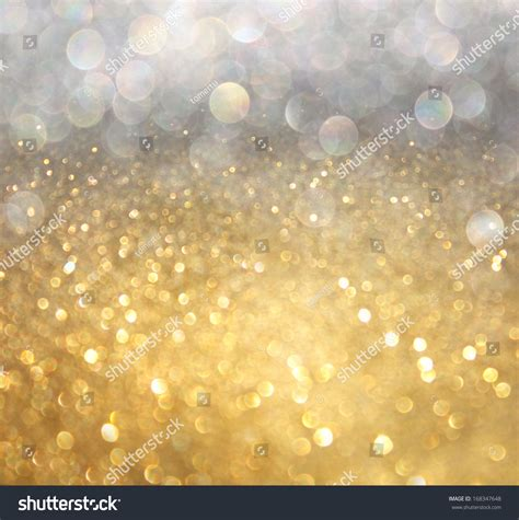 silver and gold white silver gold abstract bokeh lights stock photo