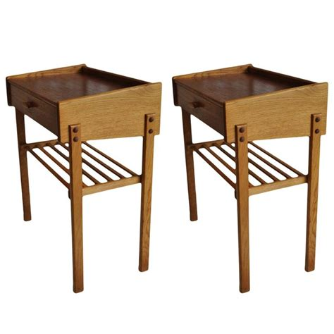 pair of danish modern teak or oak nightstands at 1stdibs pair of danish oak and teak midcentury nightstands at 1stdibs