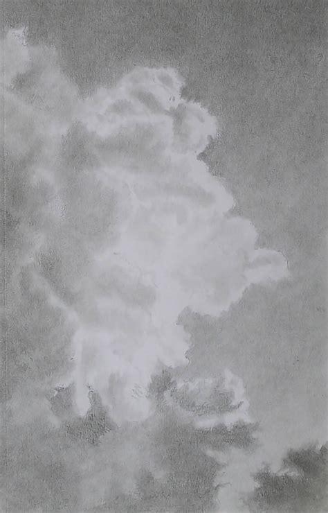 draw perfect luminous clouds  graphite pencils