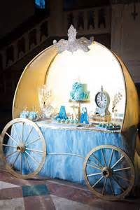 picture of blue and gold cinderella dessert table