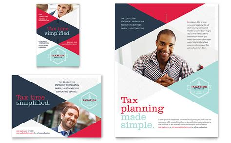 ad design layout ideas tax preparer flyer ad template design