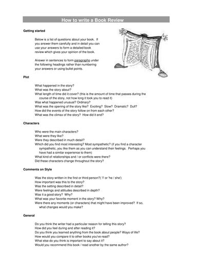 structure of a book report how to write a book review by sistersarah uk teaching