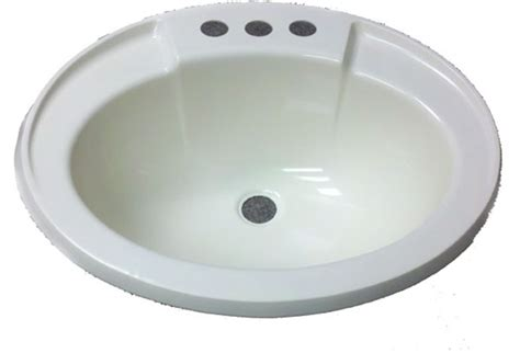 Mobile Home Sink 17 quot x 20 quot oval bone plastic sink for mobile home